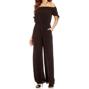 NWT Gianni Bini off the shoulder jumpsuit size M